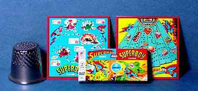 Dollhouse Miniature  Superman and Superboy Game  1960s dollhouse game toy 1:12