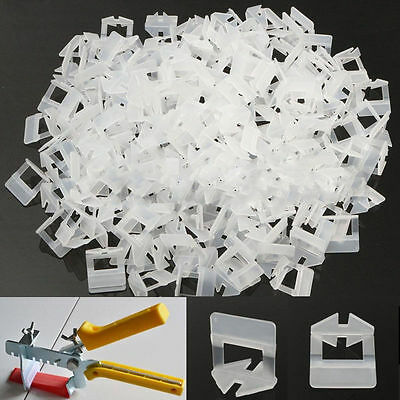 100/200pcs Tile Flat Leveling System Wall Floor Spacer Strap Clip Device Tool