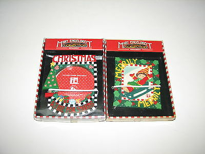 Mary Engelbreit Christmas Ornament Lot of 2 Picture Frame Merrily New in Box