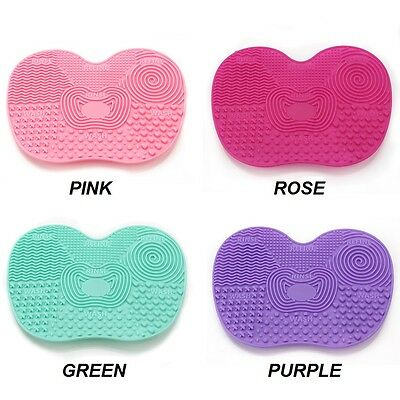 Brush Cleaner Washer Scrub Rinse Makeup Paint Craft Silicone Pad Mat Suction Cup