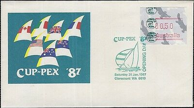 West Australia 1987 Cup-Pex Frama Cover And Postmark