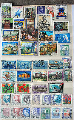 A Useful Collection of 47 Different Used Recent Issue Italian Stamps.