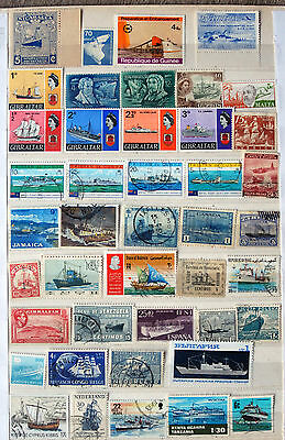 Great Collection Of Stamps Showing Ships, Ship Thematics, Used & Mint.