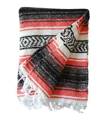 NEW! Mexican Blanket Rug Throw Falsa Light Blue {Made in Mexico!}