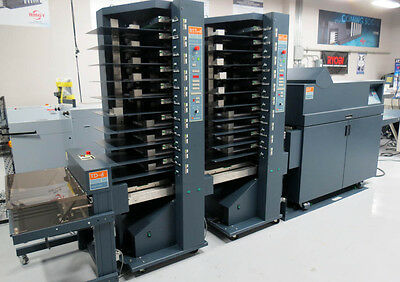 Bourg BST-D 20-Bin Air-Feed Collator & BDF Automated Booklet Maker – Duplo Horiz
