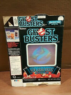 Vintage THE REAL GHOSTBUSTERS CEREAL BOX Hologram by Ralston 1985