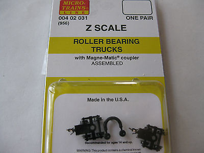 Micro-Trains Stock # 00402031 #956 Roller Bearing Trucks w/coupler (Z Scale)