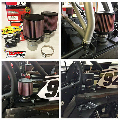 Polaris RZR XP 1000 & Turbo Air Filter Stack for Clutch and Intake, K&N Filters