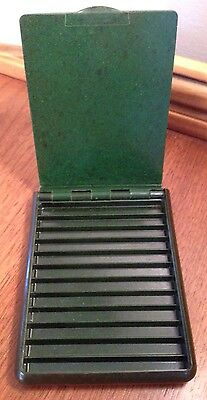 Vintage Rare Art Deco Hunter Green Bakelite Cigarette Case * Tested * VGC!