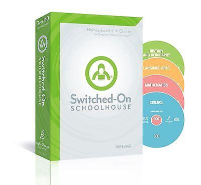 12th Grade SOS 4-Subject Homeschool Curriculum CDs Switched on Schoolhouse 12