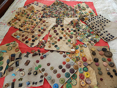 From Estate Antique Vintage Assorted  Button Lot Collection Some Hand Painted