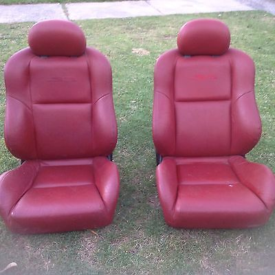 SS Commodore Red Leather Seats