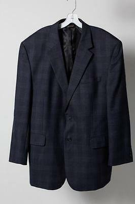 JoS. A. Bank Blue Wool Collared Two Buttons Long Sleeve Blazer Size 46R