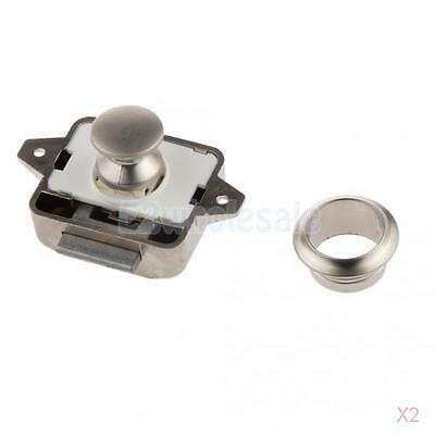2x Push Button Catch Push Button Cabinet Latch for rv/motor Home Cupboard