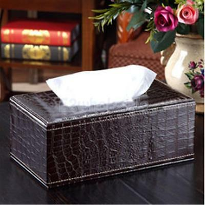 PU Leather Home Room Car Hotel Tissue Box Cover Paper Napkin Holder Coffee