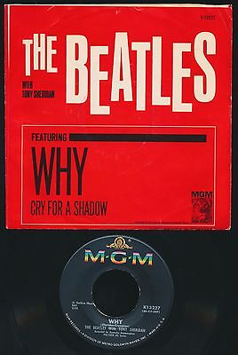 Beatles ORIG 1964 U.S. ' WHY ' MGM RECORDS VG++ PICTURE SLEEVE & NEAR MINT 45!