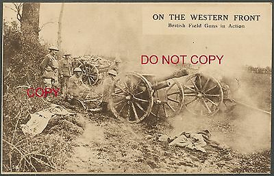 WWI British Postcard: On the Western Front