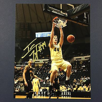 ISAAC HAAS SIGNED 8x10 PHOTO PURDUE BOILERMAKERS STAR AUTOGRAPHED RARE