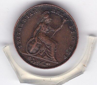 1826   King  George  IV  Farthing  (1/4d)  British  Coin