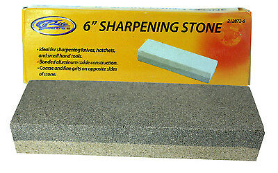 "6"" Aluminium Oxide Sharpening Stone Dual Grit Hone Knife Blade Sharpener Fishing"