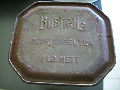 Bushells Blue Label Tea 1 lb Tin. SEE PHOTO'S Used Condition