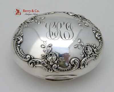 Rose and Scroll Soap Box Gorham Sterling Silver 1898