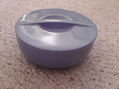 Vintage Montgomery Ward Blue Casserole Covered Bowl