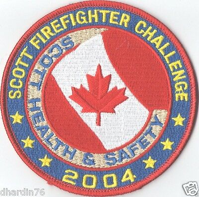 2004 Scott Firefighter Challenge Health & Safety Patch Canada