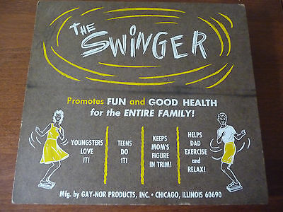 Vintage Physical Culture - The SWINGER by GAY-NOR Products Chicago, IL