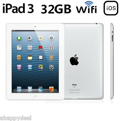 "Apple iPad 3rd Generación 1536x2048 WiFi 32GB 9.7"" Tableta PC Tablet 11560mAh EU"