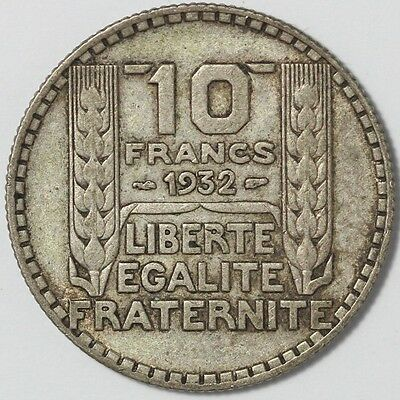 1932 France 10 Francs Silver Coin