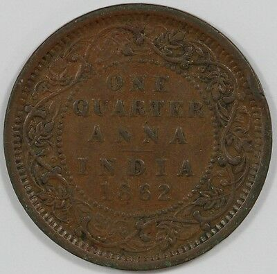 1862 British India Queen Victoria Quarter Anna