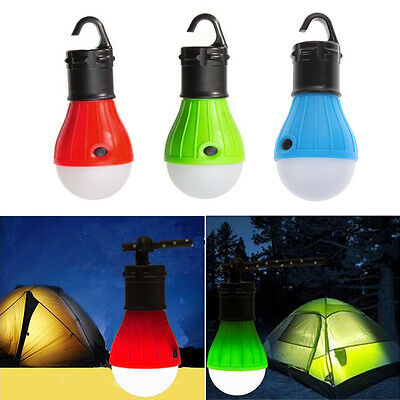 Outdoor Hanging Fishing Lamp Camping Hiking Tent Night Light Bulb LED Lantern