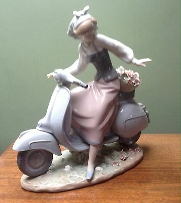 Lladro GIRL ON A SCOOTER FIGURE