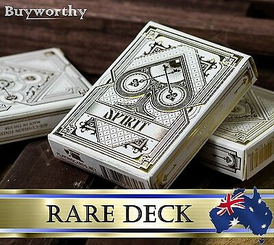 Rare Spirit White Gold BICYCLE Premium Poker Playing Cards Deck Brand New