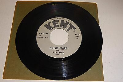 "B B King 5 Long Years / Love Honor And Obey 1966 Kent Usa 7"" Pressing"