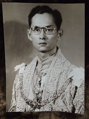 Poster Beloved King Bhumibol Rama9 Reign Thai Royal Clothes Siam Invaluable Memo