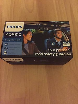 "Philips ADR810 Full HD Driving Recorder / Dash Cam + 2.7"" LCD Screen. In Box"