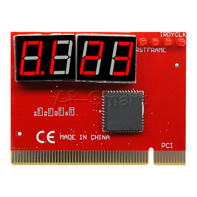 New 4 Digit LED Analysis Diagnostic Tester POST Card PCI PC Analyzer Motherboard