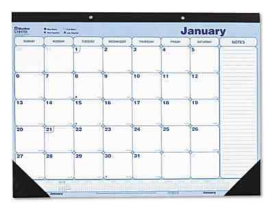Blueline Monthly Desk Pad Chipboard 12 Month 21 3/4 X 17 2017 Sturdy Chipboard