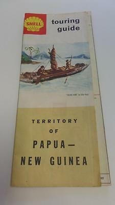 Vintage 1960's SHELL Touring Guide Map - Territory of Papau New Guinea P & G