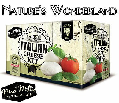 ITALIAN CHEESE KIT -Mad Millie- Mozzarella etc-No cheesemaking experience needed