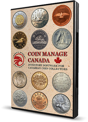 2017 Canadian Coin Collecting Software.  All Canada Coins & Sets With Values