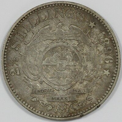 1896 ZAR South Africa Silver 2-1/2 Shillings