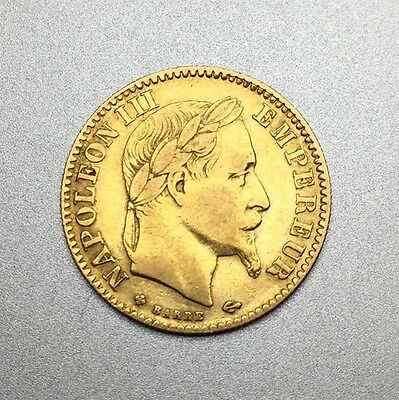 Piece 10 Francs Or Napoléon 3 1865BB