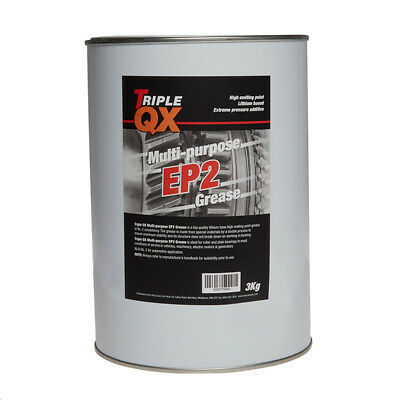 Multi Purpose LM2 Lithium Grease 3kg Tin Lubricant High Melting Point Triple QX