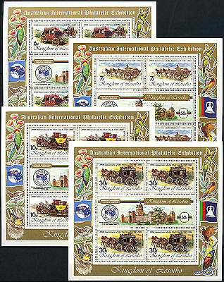 Lesotho 1984 Ausipex Exhibition Set of 4  MS MNH
