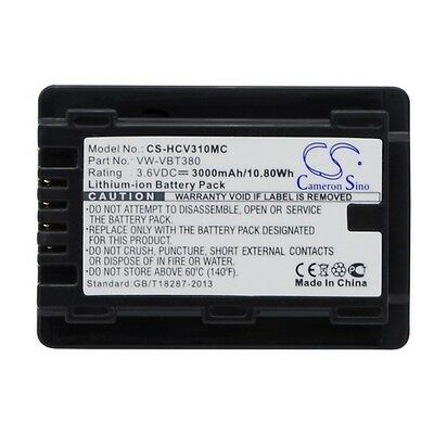 Replacement Battery For PANASONIC HC-550EB