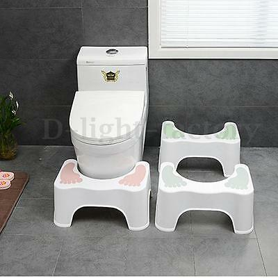 Non-Slip Squatty Potty Toilet Step Stool Bathroom Aid Constipation Piles Relief