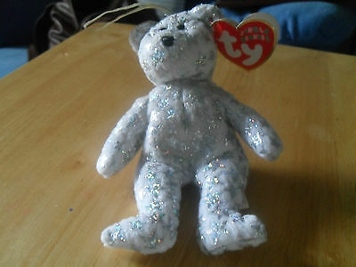 "small ty jingle beanie bear,"" The beginning "" 2002"